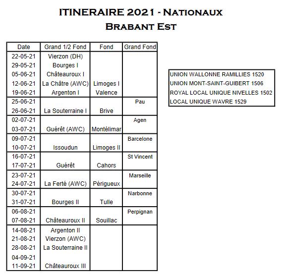 Screenshot 2021 03 16 projet itineraire 2021 xlsx itineraire brabant est nationaux pdf