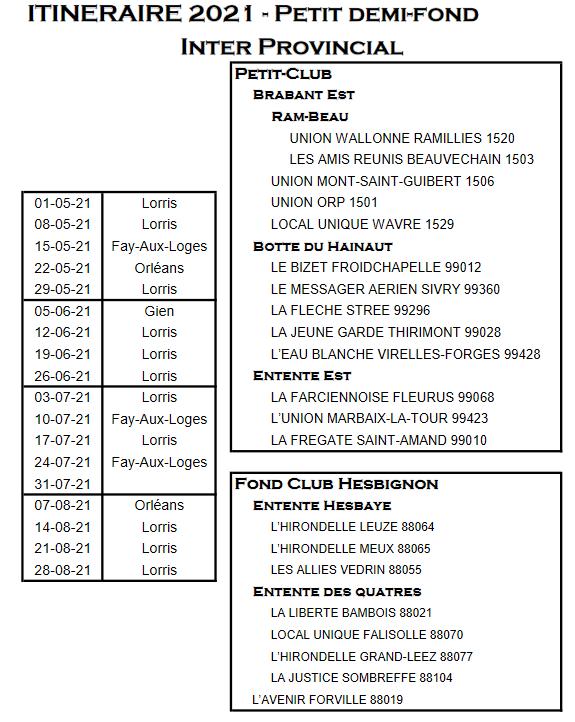 Screenshot 2021 03 16 projet itineraire 2021 xlsx itineraire interprovincial demi fond pdf
