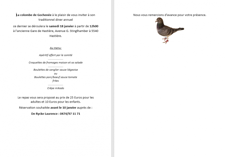 Souper pigeon 2019